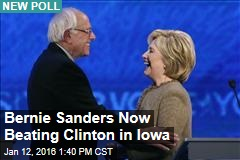 Bernie Sanders Now Beating Clinton in Iowa