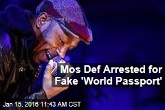 Mos Def Arrested for Fake 'World Passport'