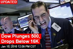 Dow Plunges 430, Dips Below 16K