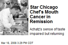 Star Chicago Chef's Mouth Cancer in Remission