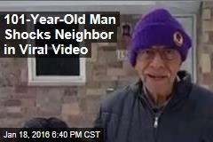 101-Year-Old Man Shocks Neighbor in Viral Video
