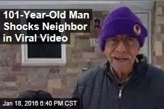 101-Year-Old Man Shocks Neighbor in Viral Video