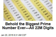 Behold the Biggest Prime Number Ever—All 22M Digits