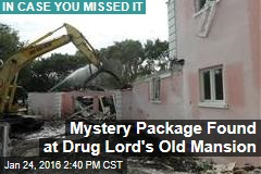 Mystery Package Found at Drug Lord's Old Mansion