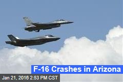 F-16 Crashes in Arizona