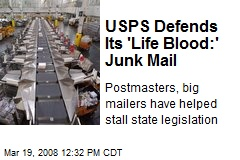 USPS Defends Its 'Life Blood:' Junk Mail