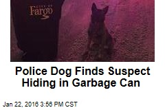 Police Dog Finds Suspect Hiding in Garbage Can