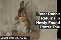 Peter Rabbit Returns in Newly Found Potter Tale