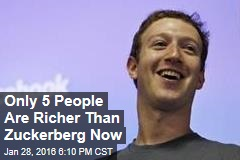 Only 5 People Are Richer Than Mark Zuckerberg Now