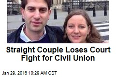 Straight Couple Loses Court Fight for Civil Union