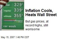 Inflation Cools, Heats Wall Street