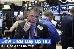 Dow Ends Day Up 183