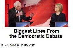 Biggest Lines From the Democratic Debate