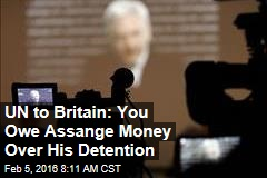 UN to Britain: You Owe Assange Money Over His Detention