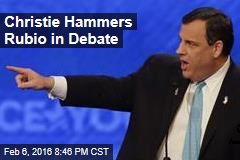 Christie Hammers Rubio in Debate
