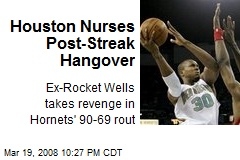 Houston Nurses Post-Streak Hangover