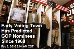 Early-Voting Town Has Predicted GOP Nominees Since 1968