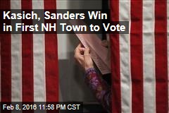 Kasich, Sanders Win in 1st NH Town to Vote