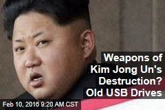 Weapons of Kim Jong Un's Destruction? Old USB Drives