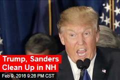 Trump, Sanders Win Easily in NH