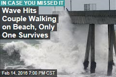 Wave Sweeps Couple Into Ocean, Only One Survives