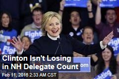 Clinton Isn't Losing in NH Delegate Count