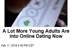 A Lot More Young Adults Are Into Online Dating Now