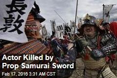 Actor Killed by Prop Samurai Sword