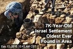 7K-Year-Old Israel Settlement Oldest Ever Found in Area
