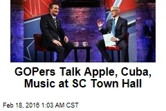 GOPers Talk Apple, Cuba, Music at SC Town Hall