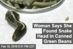 Woman Says She Found Snake Head in Canned Green Beans