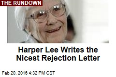 Harper Lee Writes the Nicest Rejection Letter
