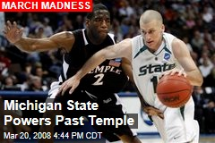 Michigan State Powers Past Temple