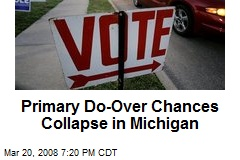 Primary Do-Over Chances Collapse in Michigan
