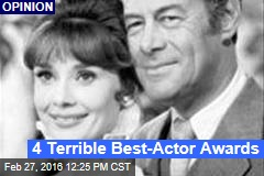 4 Terrible Best-Actor Awards