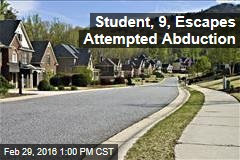 Student, 9, Escapes Attempted Abduction