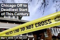 Chicago Off to Deadliest Start of This Century