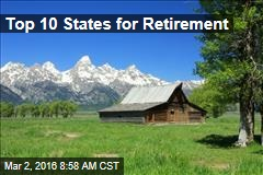 Top 10 States for Retirement