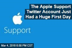 The Apple Support Twitter Account Just Had a Huge First Day