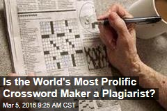 Is the World's Most Prolific Crossword Maker a Plagiarist?