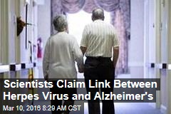 Scientists Claim Link Between Herpes Virus and Alzheimer's