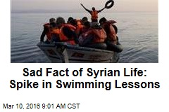 Sad Fact of Syrian Life: Spike in Swimming Lessons