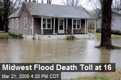 Midwest Flood Death Toll at 16