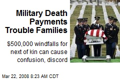 Military Death Payments Trouble Families