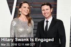 Hilary Swank Is Engaged