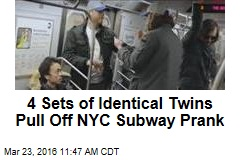 4 Sets of Identical Twins Pull Off NYC Subway Prank