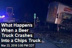 What Happens When a Beer Truck Crashes Into a Chips Truck