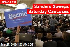 Sanders Takes Early Lead in Saturday's Democratic Caucuses