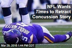 NFL Wants Times to Retract Concussion Story