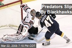 Predators Slip By Blackhawks